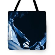 Sonic Blue Guitar Explosions Tote Bag