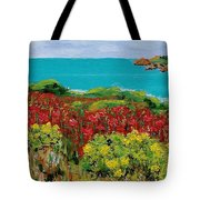 Sonoma Coast With Wildflowers Tote Bag