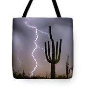 Sonoran Desert Monsoon Storming Tote Bag