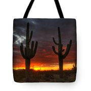 Sonoran Desert Sunrise 1 Tote Bag