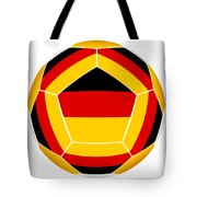 Soocer Ball With Germany Flag Tote Bag