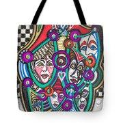 Sooooooo Many Faces Tote Bag