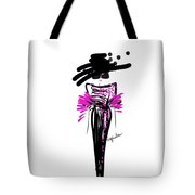 Sophisticated In Pink And Black Silk  Tote Bag