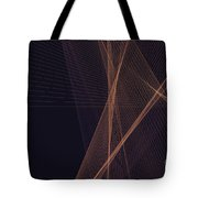 Soul Computer Graphic Line Pattern Tote Bag