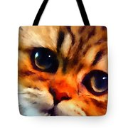 Soulfull Eyes Kitten Portrait Tote Bag