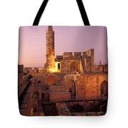 Sound And Light Show At Jerusalem City Tote Bag