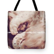 Sound Asleep Quote Tote Bag