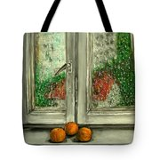 Sound Of Rain  Oil Painting Tote Bag