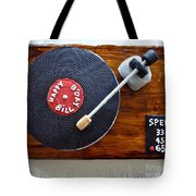 Record Player Cake Tote Bag