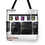 Sound System Rental Dubai - Rent,lease,hire Sound System Dubai Tote Bag