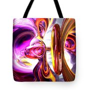 Soundwave Abstract Tote Bag