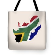 South Africa Map Art With Flag Design Tote Bag