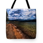 South Beach At Priest Lake Tote Bag