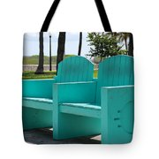 South Beach Bench Tote Bag