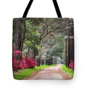 South Carolina Lowcountry Spring Flowers Dirt Road Edisto Island Sc Tote Bag