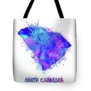 South Carolina Map Watercolor 2 Tote Bag
