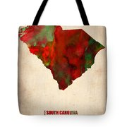 South Carolina Watercolor Map Tote Bag