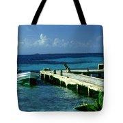 South Caye Belize Boat Dock Tote Bag