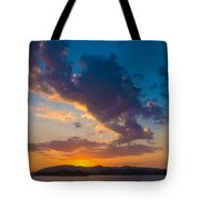 South China Sea Sunset Tote Bag