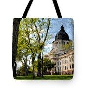 South Dakota Capitol Oil Painting Tote Bag