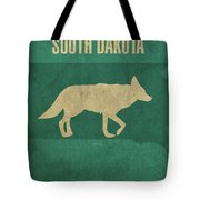 South Dakota State Facts Minimalist Movie Poster Art Tote Bag