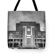 South End Zone Lambeau Field Tote Bag