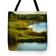 South From The Causeway Huntington Beach State Park Sc Tote Bag
