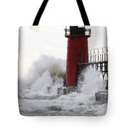 South Haven Lighthouse 3 Tote Bag