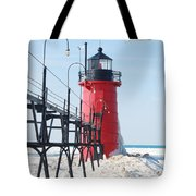 South Haven Pierhead Light Tote Bag