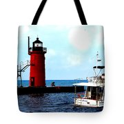 South Haven Michigan Lighthouse By Earl's Photography Tote Bag