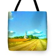 South Immanuel, On A Hill Far Away Tote Bag