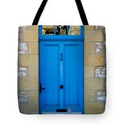 South Of France Rustic Blue Door Tote Bag by Nomad Art And  Design