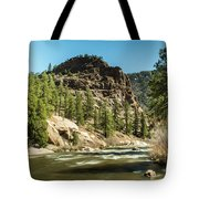 South Platte In Heavy Spring Flows And Wind Tote Bag