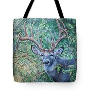 South Texas Deer In Thick Brush Tote Bag