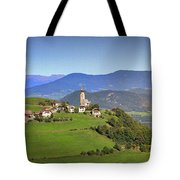 South Tyrolean Panorama Above Bolzano. Tote Bag
