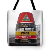 Southermost Point Of U. S. A. Buoy Marker Tote Bag