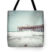 Southern California Pier Vintage 1950s Picture Tote Bag by Paul Velgos