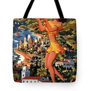 Southern California - United Air Lines - Retro Travel Poster - Vintage Poster Tote Bag