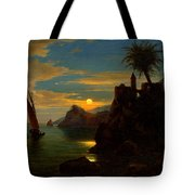 Southern Coastal View By Moonlight Tote Bag