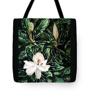Southern Magnolia Bud And Bloom Tote Bag