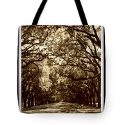 Southern Welcome In Sepia Tote Bag