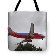 Southwest Airlines 737 On Approach Into Las Vegas Nv Tote Bag