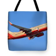 Southwest Boeing 737-7h4 N792sw Retro Gold Phoenix Sky Harbor January 21 2016 Tote Bag