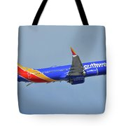 Southwest Boeing 737-8 Max N8708q Phoenix Sky Harbor October 10 2017 Tote Bag
