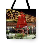 Southwest Reef Lighthouse, Berwick, Louisiana Tote Bag