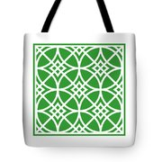 Southwestern Inspired With Border In Dublin Green Tote Bag