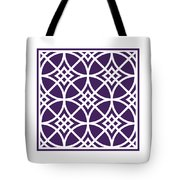 Southwestern Inspired With Border In Purple Tote Bag