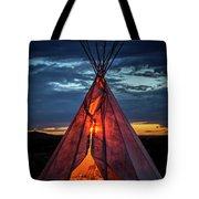 Southwestern Teepee Sunset Tote Bag