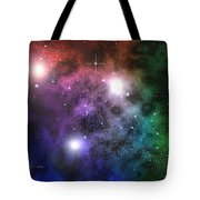 Space Clouds Tote Bag