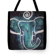 Space Elephant Spiral 2 Tote Bag